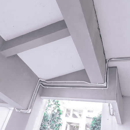 Architecture Building Built Structure Ceiling Day Design Geometric Shape Indoors  Low Angle View No People Pattern Railing Staircase Steps And Staircases Wall - Building Feature White White Color Window