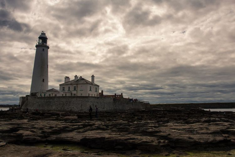 St Mary's Lighthouse, Whitley Bay, UK Cloud - Sky Building Exterior Sky Sea Architecture Built Structure Lighthouse Outdoors Water Beach No People Nature Beauty In Nature Day Dramatic Sky Island Clouds St Marys Lighthouse Whitley Bay