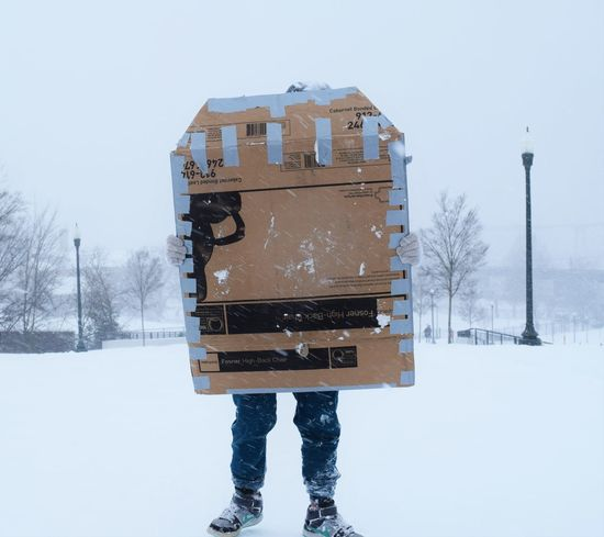 """""""I wanted to go sledding"""".Cardboard Cold Cold Temperature Communication Day Fun Outdoors Shy Sledding Snow Weather Winter Learn & Shoot: Working To A Brief"""