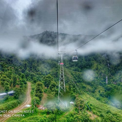 Way to Manakamana Temple from Cable Car Cablecar Mobilephotography MiNote5AI Nepal Beautiful Place Trip Advisor Tree Fog Storm Cloud Water Rural Scene Sky