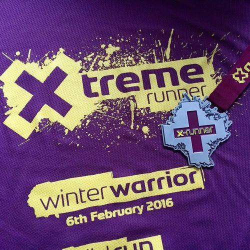 Xrunner Ocr Mud Obstacles Obstaclecourseracing Wet Cold Bling Medal