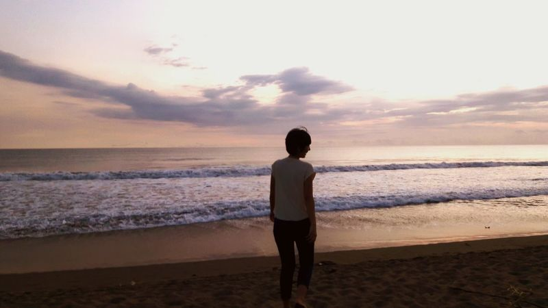 Me Time!  Relaxing Bali Beach Sunset Silhouettes