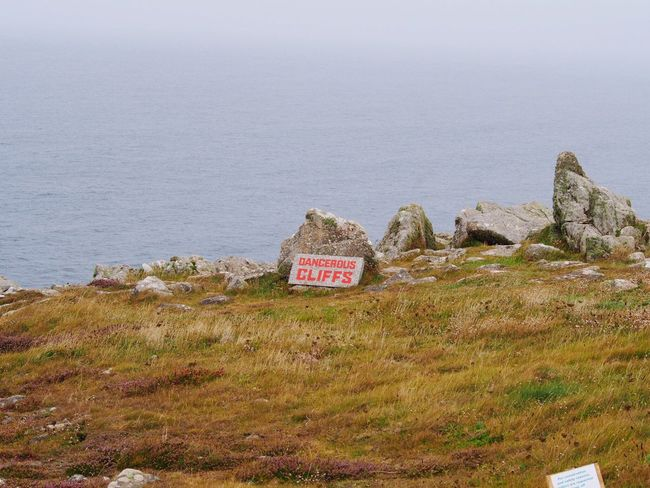 LandsEnd Sea Outdoors Warning Sign Sign Cornwall
