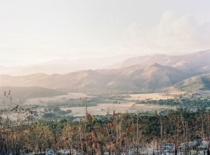 Above Trinidad, 🇨🇺 Film Photography Mountain Beauty In Nature Nature Tranquil Scene Tranquility Landscape Scenics Mountain Range Outdoors No People Sky Day