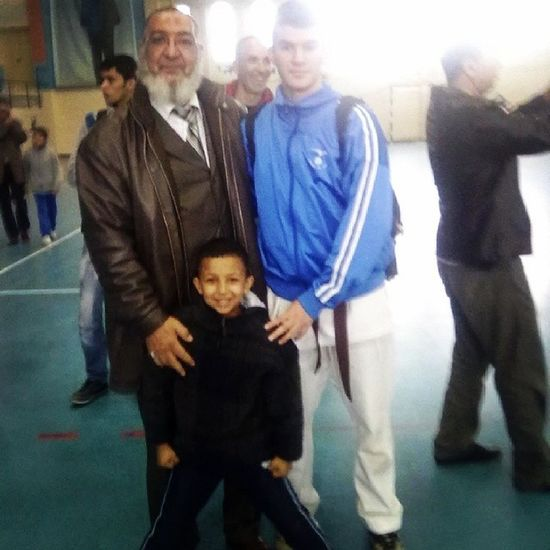Karate Blackbelt test in Annaba .... pic with the champion if algeria and africa ... lv it