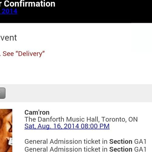 Words cannot explain how excited I am to go to this concert! @mr_camron @mr_camron Camron Killcam MrGiles MsGiles LoveHim SoExcited Toronto August16th