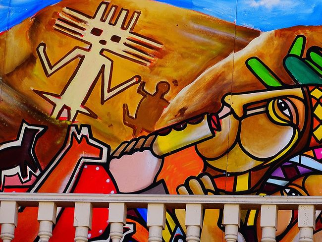 Art Day Iquique Chile  Multi Colored Murales No People Outdoors Text
