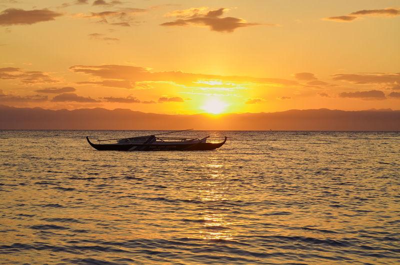 Lambugbeachcebu Badian, Cebu Sunset Sea Sky
