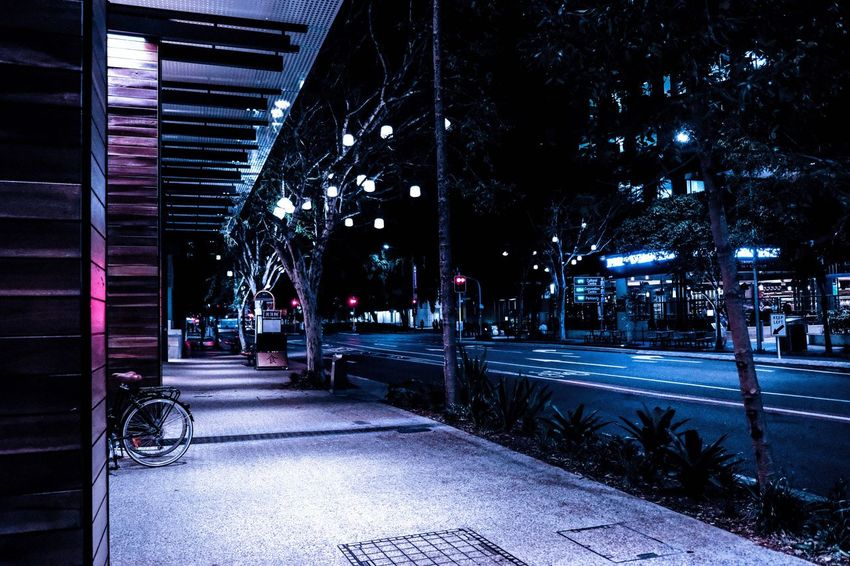 Night Street Illuminated Architecture Built Structure Transportation City City Street Building Exterior Outdoors City Life The Way Forward Road No People