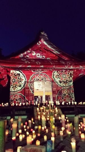 Japan🇯🇵 Heart_imprint Amazingplaces Wonderful_places Japan Scenery EyeEmNewHere Ketataishashrine🇯🇵 Ketataisha Projection Screen Projection Mapping Scenics Japan Lovers Ishikawa, Japan Illuminated Bright Light Red Architecture Built Structure Sky Memorial Colorful Cemetery