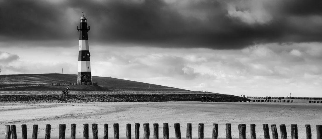 Beach Black & White Blackandwhite Cloud Cloud - Sky Cloudy Great Outdoors - 2016 EyeEm Awards Landscape Lighthouse Marine Nature Outdoors Sea Sky Travel Destinations Weather