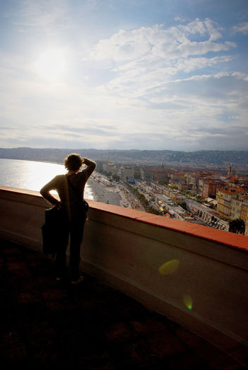 Look Sky Architecture Cityscape Standing One Person Leisure Activity Looking At View City Nizza Nice France Frankreich Côte D'Azur