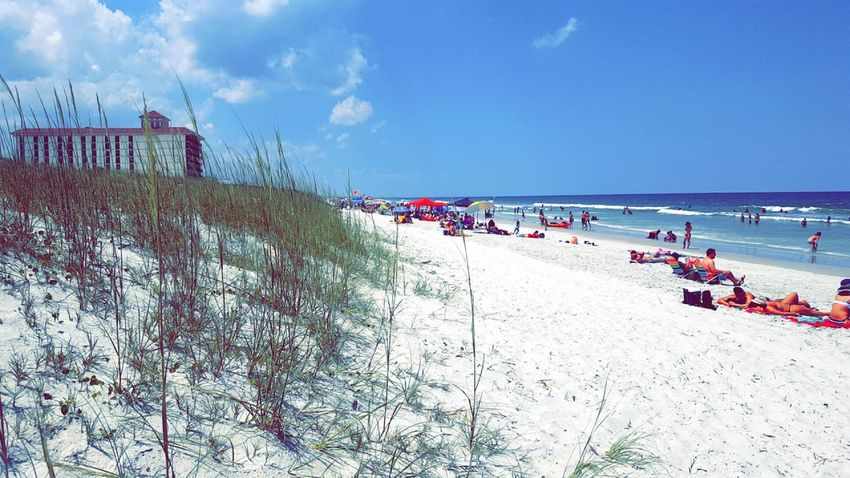 Vacations Outdoors Summer Large Group Of People Sea Sand Beach Horizon Over Water Water Day Sky Florida Jacksonville Beach Beach Photography Beach Side