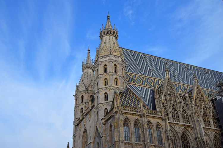 High section of st stephens cathedral against sky