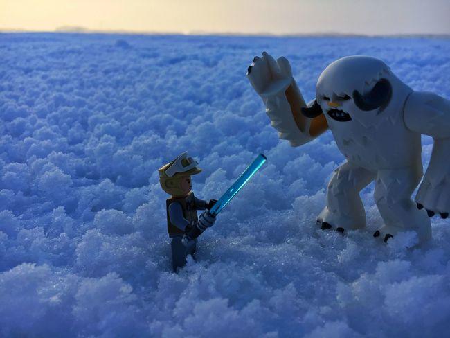 Day Fight Hoth LEGO Legophotography Lightsaber Lukeskywalker Monster Outdoors Starwars Winter