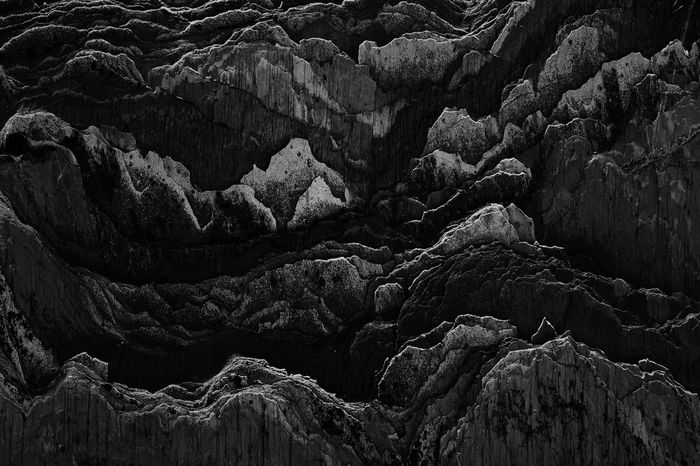 Rock - Object Nature No People Beauty In Nature Outdoors Landscape Cold Temperature Scenics Day Luminosity Stone Material Textured  Black And White