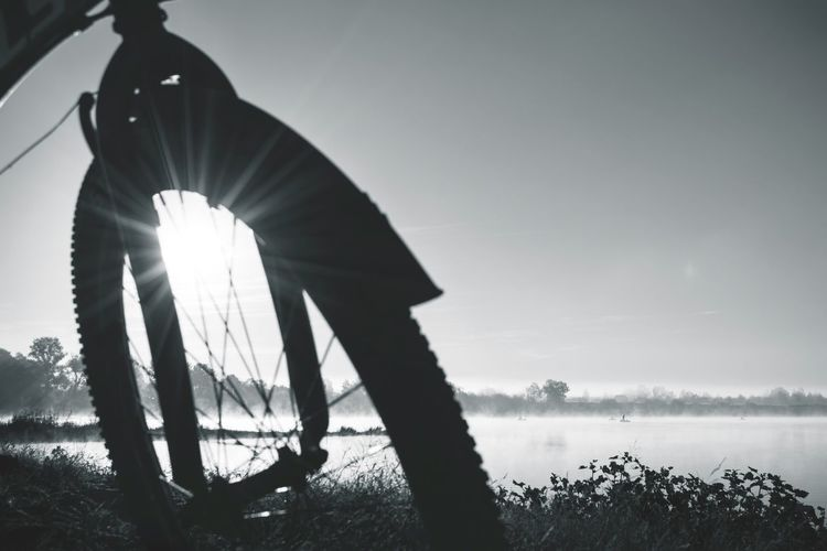 CyclingUnites Monochrome Photography Silhouette Sunlight Outdoors Nature Horizontal Water By Ivan Maximov From My Point Of View Desaturated Black And White Belarus Nature Monochrome Dawn Dawn Of A New Day Atmospheric Nature