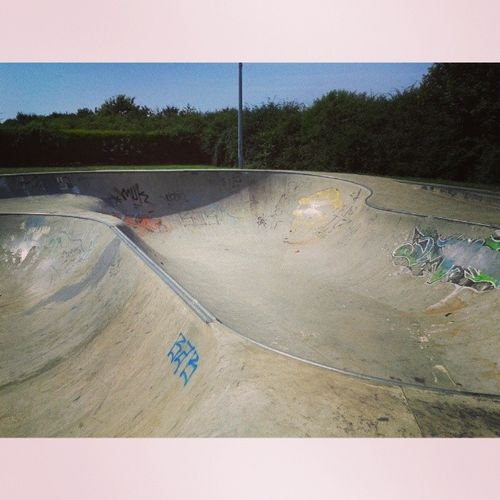 Always cool to ride a new Skatepark especially fast concrete Bowls Peterborough Werrington skatebowl skateboarding