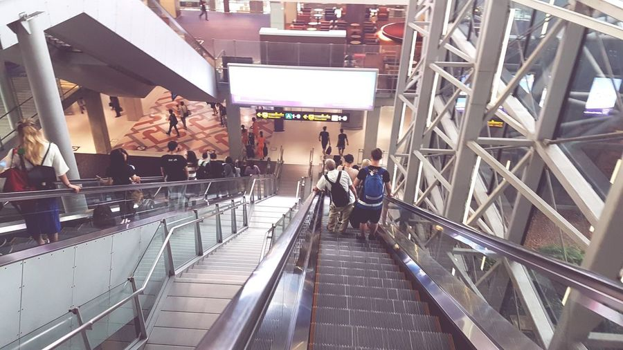 Next stop CNX Large Group Of People People Indoors  Built Structure Architecture Lifestyles Modern Adult Adults Only Women Real People Technology City Men Futuristic Day Bangkokeater BKK Suvarnabhumi International Airport Domestic Flight