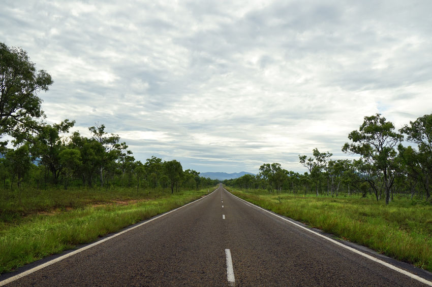 Captain Cook Highway, Cooktown Mareeba Outback Captain Cook Highway Cloud - Sky Cooktown Day Diminishing Perspective Green Color Highway Highwayscape Landscape Nature Outdoors Road Scenics Sky The Way Forward Tranquil Scene Tranquility Transportation