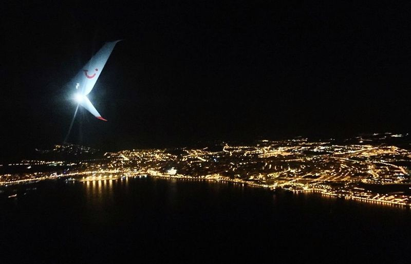 By Night From An Airplane Window Airplane Light Night Lights Farida Gotcha Tui Jet Air