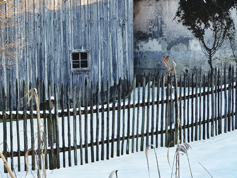 old fence Snow Winter Cold Temperature Day Outdoors Architecture No People Built Structure Building Exterior Close-up