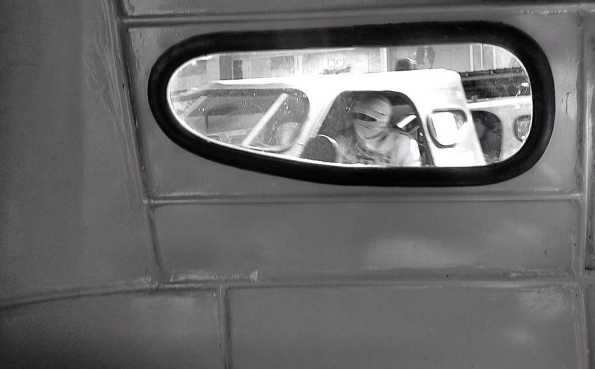 Side Window Vehicle Commuting Window Reflection Looking Through Window
