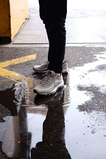 Nike AirMax 97 / Silver Bullet Fujifilm_xseries Fujifilm Fujifilmxt1 Streetwear Sneaker Shoe Silverbullet Airmax 97 Airmax Nike Men Outdoors First Eyeem Photo EyeEmNewHere