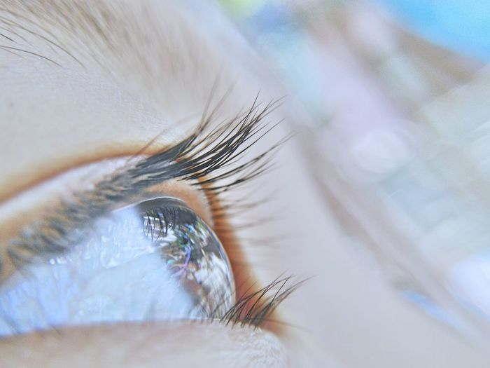 Close-Up Of Woman Eye With Reflection