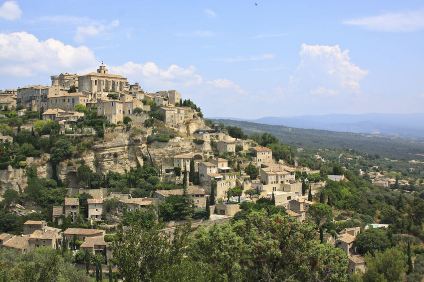 Gordes, Provence, France Architecture Building Exterior Built Structure Cloud - Sky Crowded Europe Flowers France Gordes High Angle View House Landscape Lavander Mountain Mountain Range Provence Residential Building Residential District Residential Structure Senanque Sky Sun Town Tree Valensole