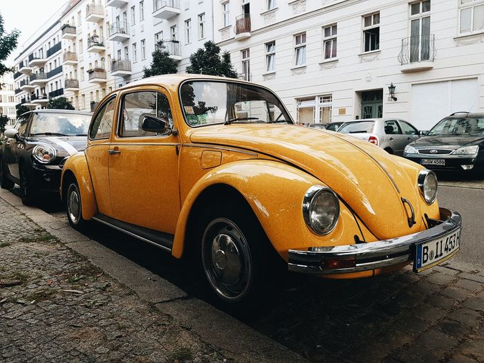 Car Transportation Taxi Yellow Taxi Street Land Vehicle Mode Of Transport Architecture Built Structure Building Exterior Day Road Outdoors No People City EyeEmNewHere Yellow EyeEmBestPics Eyeemphotography Classic Car Classic Berlin Berlincars