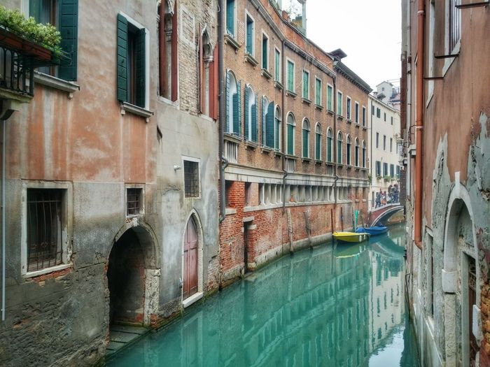 Grand canal amidst old buildings