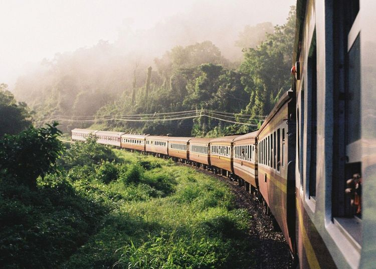 On my way. Train Film Photography Film Nature Outdoors Thailand Chiang Mai | Thailand เชียงใหม่ Reviewthailand Reviewchiangmai