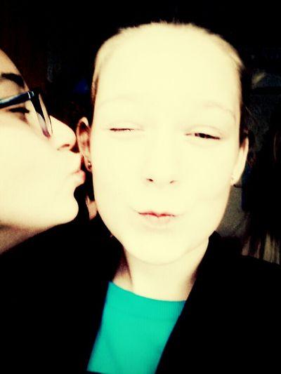 Kiss ^^ :D*** Love Enjoying Life Meeting Friends School Life
