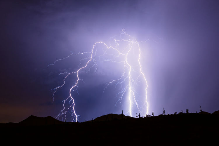 Low angle view of lightning against sky