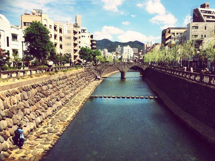 長崎市 ちんねん 眼鏡橋 Japan Nagasaki Tinnen NCCが撮影していた。