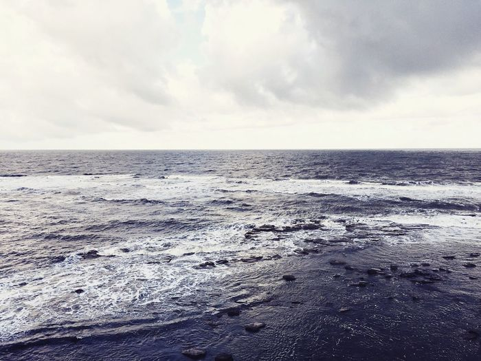 Restless sea Sea From Above North Sea England Stormy Sea Cold Weather Sea Waves English Coastline Seascape Skyscape Clouds Lost In The Landscape