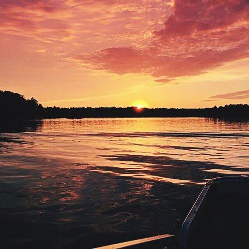 Sunset on lake Holcombe.