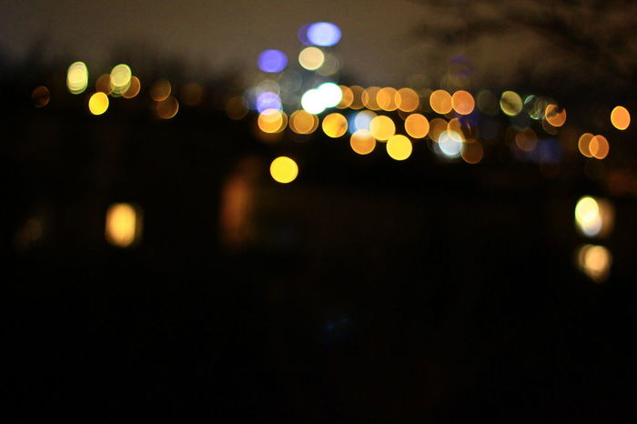 Gdynia Bokeh Bokeh Lights City Lights Night Lights Town Cityview