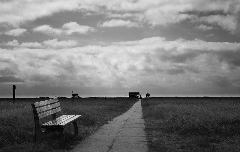 SPO impressions Beach Blackandwhite Photography Clouds Day Eiderstedt Happiness Nature Northsea Ocean Quiet Moments Sankt Peter-Ording Scenics Sky Tranquility Scene