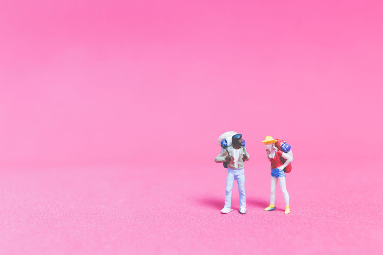 Background Backpack Backpacker Closeup Concept Creative Destination Exploration Figure Guide Holiday Journey Macro Map Mini Miniature People person Pink Plan Small Tiny Tour Tourist Toy Travel Traveler Trip Vacation Valentine Walking World