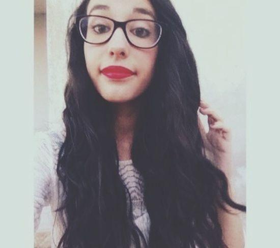 Cute Beautiful ♥ Selfie ✌ Red Lips ?