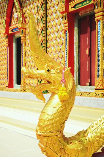 The colorful of the Nagas in the Thai temple Statue Architecture Gold Exquisite Beauty Colorful Travel Thai Temple Thailand Travel Art And Craft Architecture Place Of Worship Temple Exquisite Amazing Buddhism Amazing Thailand Church Buildings Amazing Architecture Worship Day Sculpture Tradition Statue Religion Culture