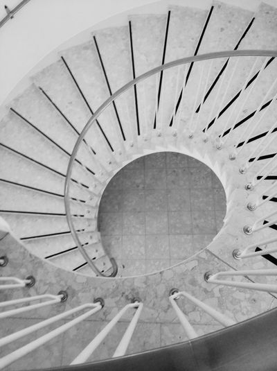 Staircase Spiral Steps And Staircases Steps Architecture Spiral Staircase High Angle View Spiral Stairs Bnw Bnw_collection Bnwphotography