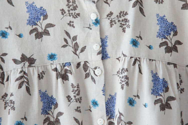 Dress Linen Texture Woman Backgrounds Blue Buttons Close-up Clothes Curtain Design Dressing Up Floral Pattern Folded Full Frame Hanging Linen Material Pattern Shape Softness Studio Shot Textile Textured  Wallpaper White Color