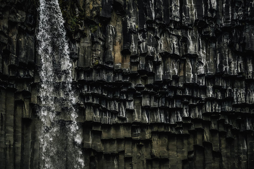 Skaftafell. Svartifoss waterfall. Iceland Iceland Memories Svartifoss Waterfall Backgrounds Iceland Trip Nature Rock - Object Rock Formation Skaftafell Skaftafellsjökull Textured  Waterfall Waterfall #water #landscape #nature #beautiful Waterfall Photography Waterfall_collection Perspectives On Nature