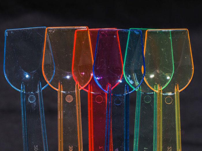 Stilleben Macro Macro Studio-shot Acryl Objects Alcohol Close-up Drink Focusstacking Freshness Ice Cream Icecream Spoons Multi Colored Plastic Spoons Refreshment