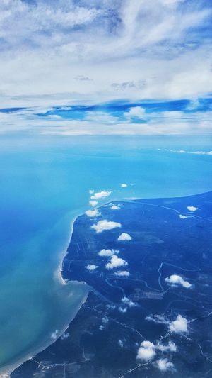 Over the horizon... Sea Water Blue Aerial View Nature Backgrounds No People Full Frame Cloud - Sky Scenics Beauty In Nature Beach Outdoors Day Sky UnderSea Horizon Over Water EyeEmNewHere The Great Outdoors - 2017 EyeEm Awards
