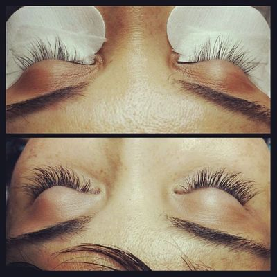 Such a pleasure doing lash extensions on this local news anchor! Thin diameter (.15) in 8,10,12 and 14mm lengths. A beautiful natural looking set. Lashextensions Naturallashextensions Novalash Lashlife