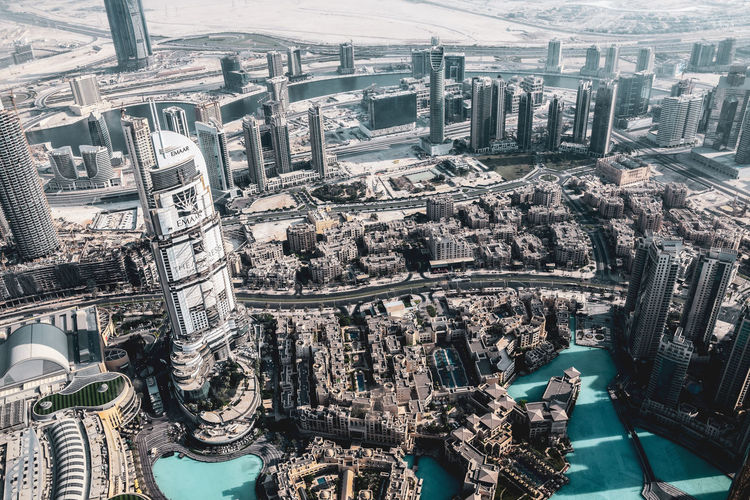 burj khalifa Building Exterior City Architecture Built Structure Cityscape Building Aerial View High Angle View Residential District No People Office Building Exterior Day Skyscraper Travel Destinations Water Transportation Tower Modern Outdoors Financial District  Burj Khalifa